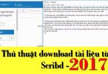 Thủ thuật download tài liệu từ Scribd (bài 1)