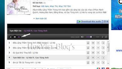 Thủ thuật download cả album nhạc trên Zing MP3 - phần 2