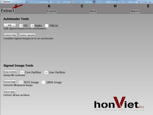 Thủ thuật HonVietBIZ | Hướng dẫn trích xuất file .bar của OS bb10 bằng Sachesi