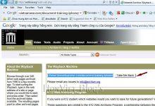 Thủ thuật lấy tài liệu từ website đã bị xóa