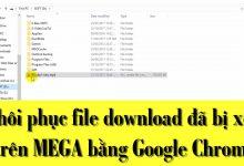 Hướng dẫn khôi phục file download đã bị xóa trên MEGA bằng Google Chrome