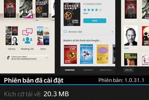 Thủ thuật HonVietBIZ | Kobo - ứng dụng đọc sách epub trên BlackBerry 10