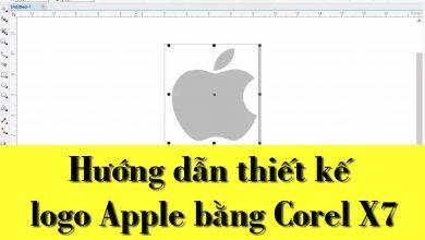 Thủ Thuật HonVietBIZ | Hướng dẫn thiết kế logo Apple bằng Corel X7