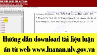 Hướng dẫn download tài liệu từ Thư viện quốc gia Việt Nam