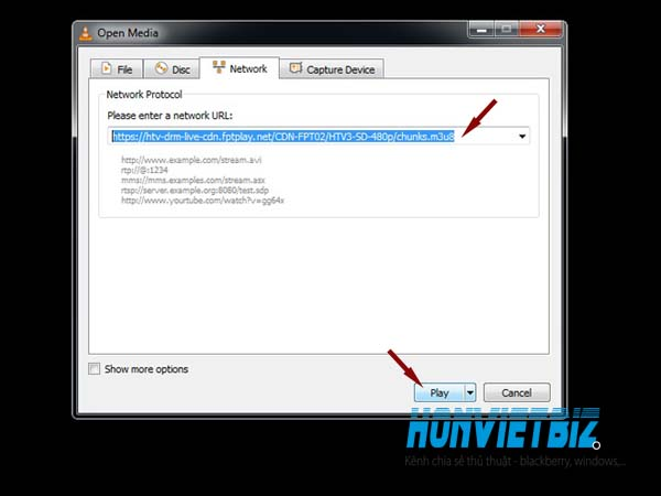 Thủ thuật HonVietBIZ   Hướng dẫn mở và download file M3u8
