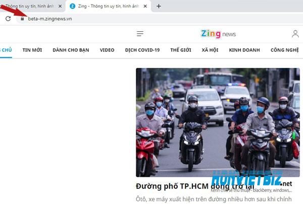 Thủ thuật HonVietBIZ | Hướng dẫn truy cập giao diện mobile phiên bản beta của Zingnews
